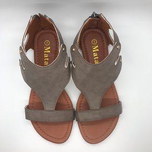 Shoes - BNIB Boutique size 7 gray sandals